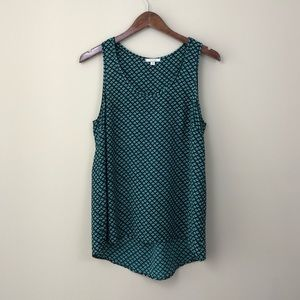 Pleione Green & Black Sleeveless Blouse